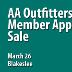 Member Appreciation Sale Saturday March 26 at AA Outfitters