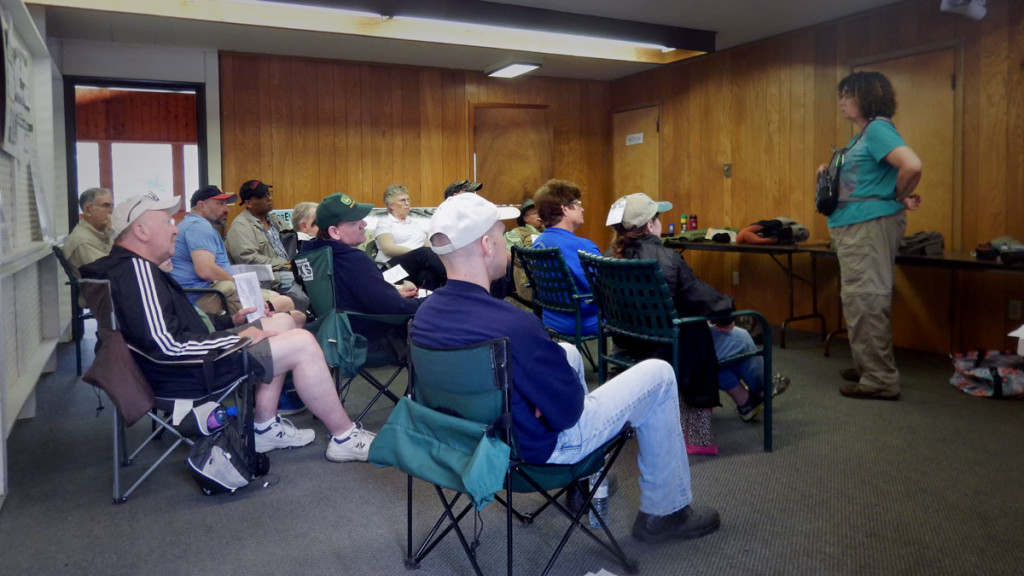 Attendees at the 2015 Fly-Fishing workshop learn the ins and outs of fly-fishing at ForEvergreen Nature Preserve. The event is co-sponsored by the Brodhead Chapter of Trout Unlimited, Brodhead Watershed Association, Pocono Heritage Land Trust and Stroud Township.