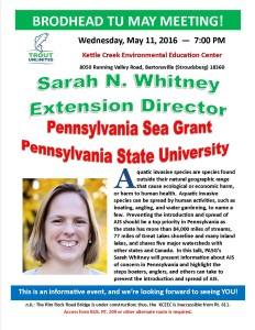 May 2016 Sarah Whitney Meeting Notice